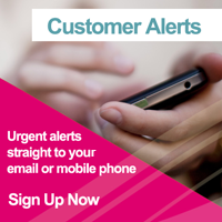 Sign up for urgent alerts straight to your email or mobile phone