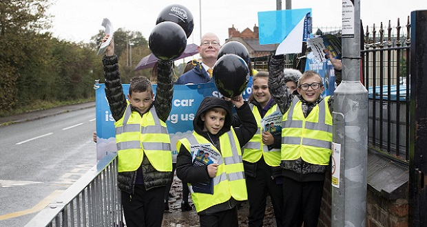 Pupils target drivers in anti-idling campaign